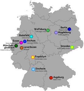 WM 2011 in Deutschland - Austragungsstätten