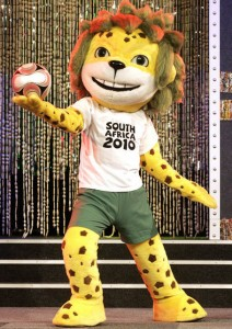 Maskottchen zur WM 2010 in Südafrika